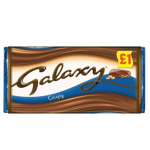 Galaxy Crispy Milk Chocolate Bar Mars 102g