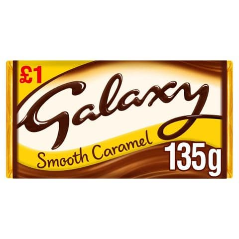 Galaxy Smooth Caramel Milk Chocolate Bar Mars 135g