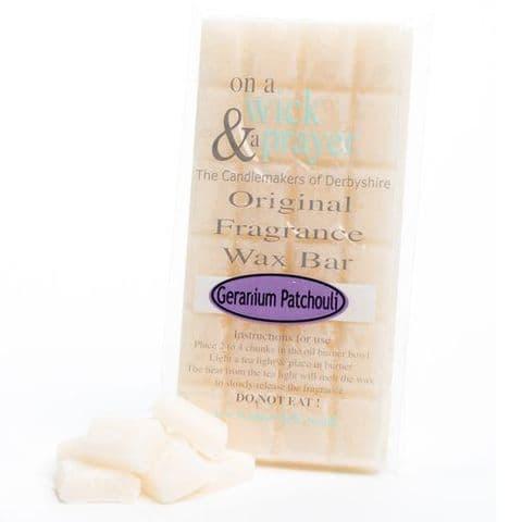 Geranium Patchouli - Original Fragrance Wax Bar On A Wick & A Prayer