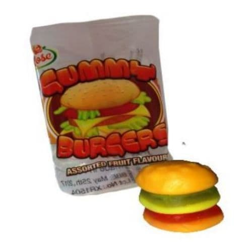 Gummy Burgers - Mini Gummies Sweets Novelty Candy Rose Confectionery 8g