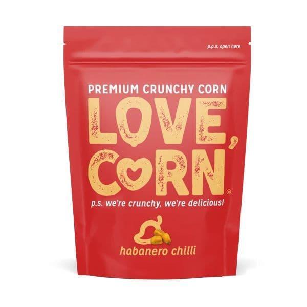 Habanero Flavour Premium Savoury Snack Love Corn 45g