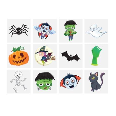 Halloween - Pack of 12 Mini Tattoos