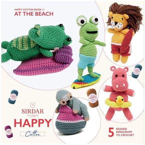 Happy Cotton Book 11 (At The Beach)  Amigurumi Crochet Patterns Sirdar