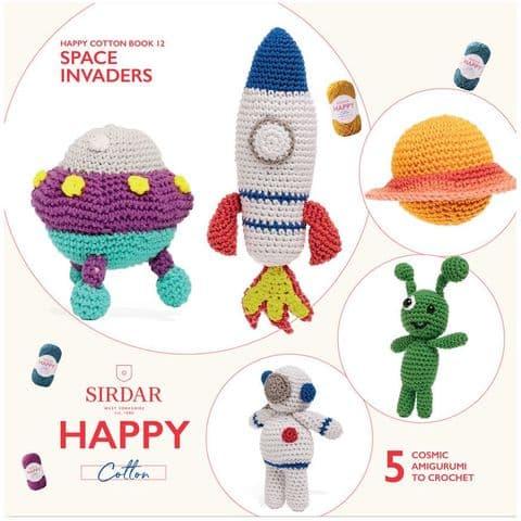 Happy Cotton Book 12 (Space Invaders)  Amigurumi Crochet Patterns Sirdar