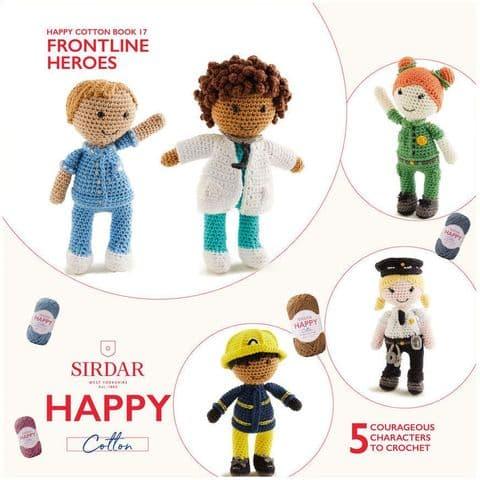 Happy Cotton Book 17 (Frontline Heroes)  Amigurumi Crochet Patterns Sirdar