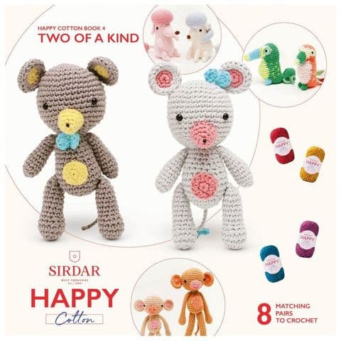 Happy Cotton Book 4 (Two Of A Kind)  Amigurumi Crochet Patterns Sirdar
