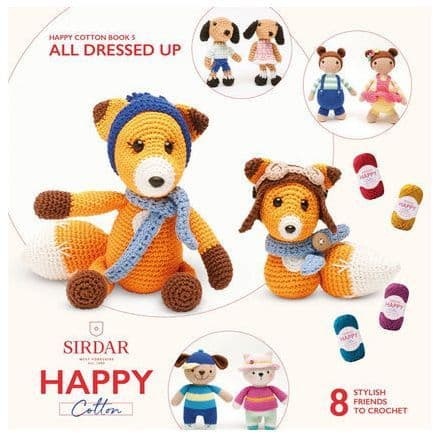 Happy Cotton Book 5 (All Dressed Up)  Amigurumi Crochet Patterns Sirdar