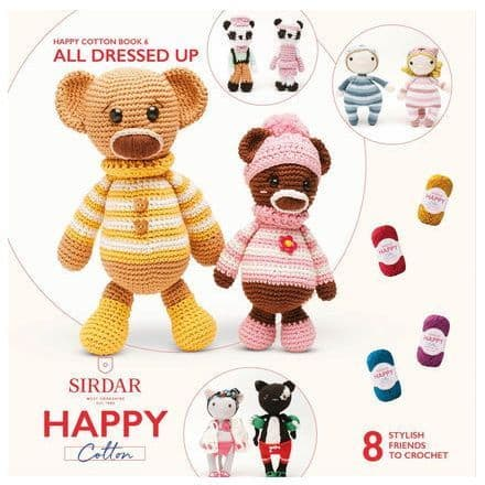 Happy Cotton Book 6 (All Dressed Up)  Amigurumi Crochet Patterns Sirdar