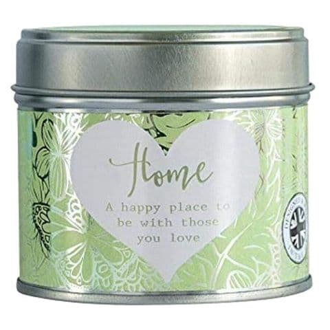 Home Linen Scented Candle Tin Said With Sentiment Arora Design
