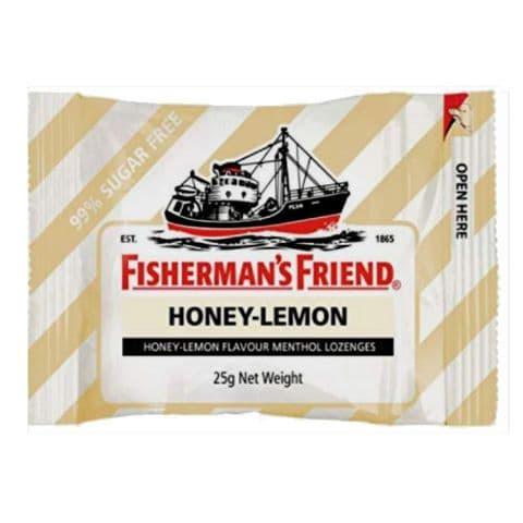 Honey & Lemon Menthol Flavour Lozenges Sugar Free Fisherman's Friend 25g