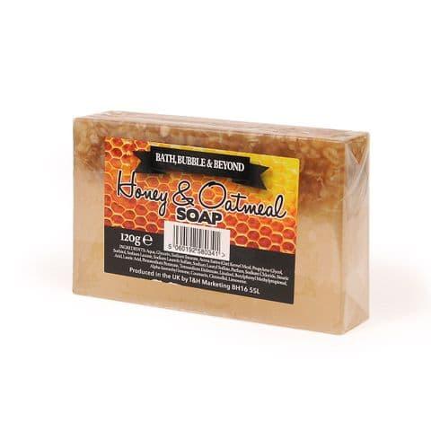 Honey & Oatmeal Exfoliating Glycerin Soap Slice - Bath Bubble & Beyond 120g