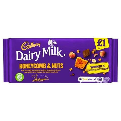 Honeycomb & Nuts Dairy Milk Chocolate Bar Cadbury 105g