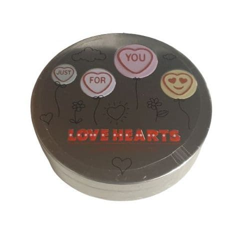 Just For You - Limited Edition Mini Love Hearts Valentine's Tin 100g