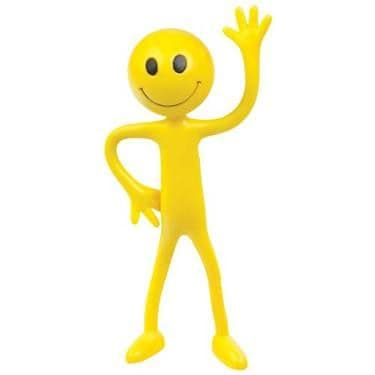 Large Bendy Smiley Face Man Bendable Smiler Assorted Colours