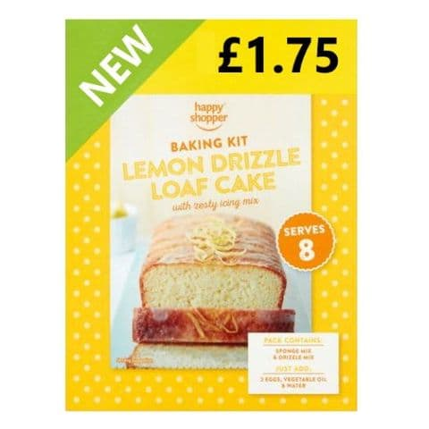 Lemon Drizzle Loaf Cake Home Baking Kit Happy Shopper 380g