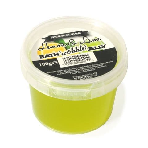 Lemon & Lime Shower Bath Wobble Jelly - Bath Bubble & Beyond 100g