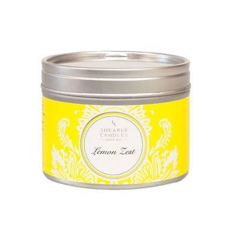 Lemon Zest Scented Filled Tin - Shearer Candles