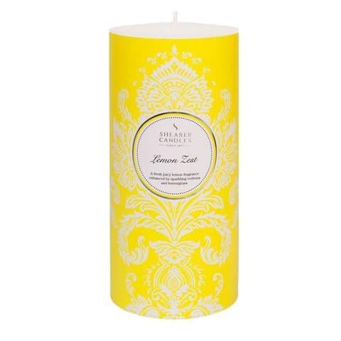 Lemon Zest Scented Pillar Candle - Shearer Candles