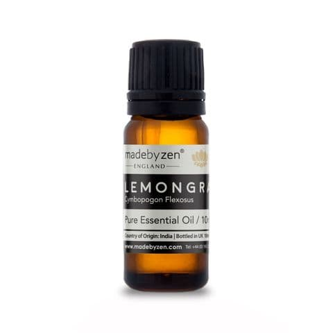 Lemongrass - Classic Scented Pure Essential Oil Made By Zen 10ml
