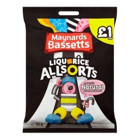 Liquorice Allsorts Sweets Maynards Bassetts 165g
