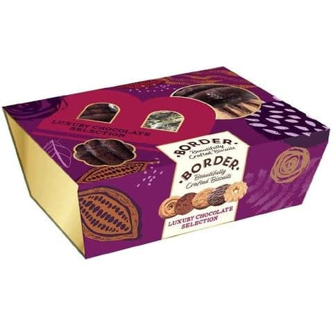 Luxury Chocolate Selection Gift Box Cookies - Border Biscuits 360g