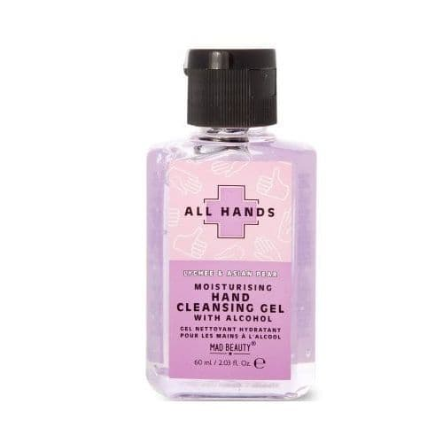 Lychee & Asian Pear Scented All Hands Moisturising Hand Cleansing Gel 60ml Mad Beauty