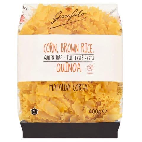 Mafalda Corta Gluten Free Pasta (Corn, Brown Rice, Quinoa) Garofalo 400g