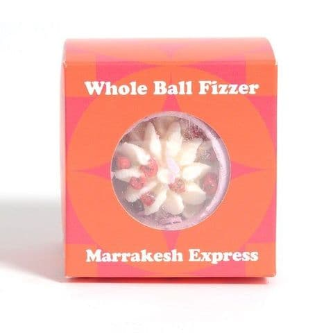 Marrakesh Express Rose Scented Bath Fizzers Bombs Gift Box - Bath Bubble & Beyond 180g