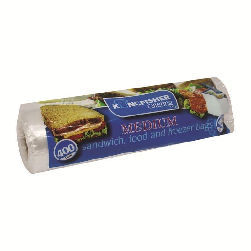 Medium 22x17cm Sandwich Food Freezer Bags Kingfisher Catering (400 Pack)