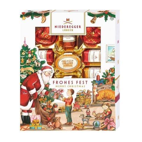 Merry Christmas Marzipan Specialities Luxury Dark Chocolate Marzipan Niederegger Gift Box 182g