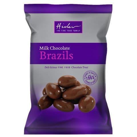 Milk Chocolate Coated Brazils Nuts Hider Foods 100g