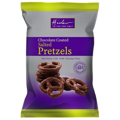 Milk Chocolate Coated Salted Pretzels - Hider Foods 65g