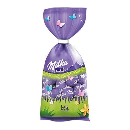 Milk Melk Lait Chocolate Mini Easter Eggs - Milka Bag 100g