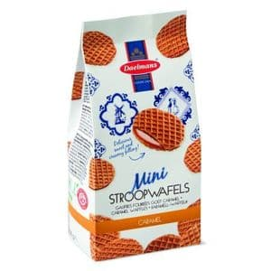 Mini Caramel Wafers Dutch Waffles Biscuits Stroopwafels Daelmans 200g