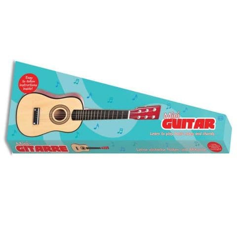 Mini Wooden Acoustic Guitar - Steel Strings Toy Musical Instrument Tobar