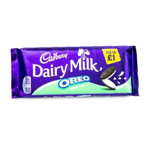 Mint Oreo Dairy Milk Chocolate Bar Cadbury 120g