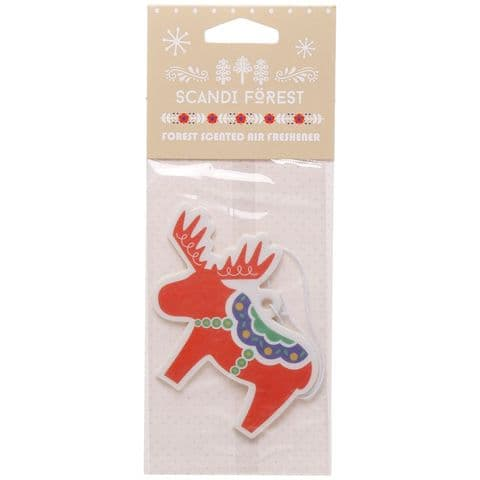 Moose Christmas Scandi Forest Scented Car Air Freshener Puckator