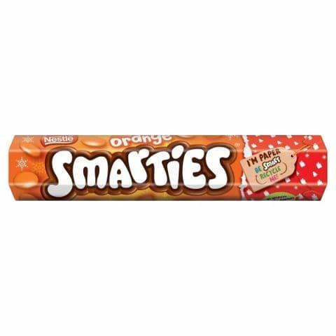 Nestle Orange Smarties Chocolates Sweet Giant Tube 120g