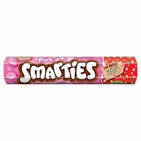 Nestle Pink Smarties Chocolates Sweet Giant Tube 120g