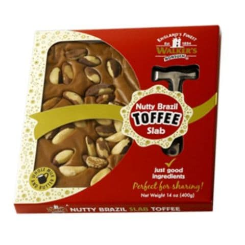 Nutty Brazil Toffee Slab & Hammer Gift Pack Walker's Nonsuch 400g
