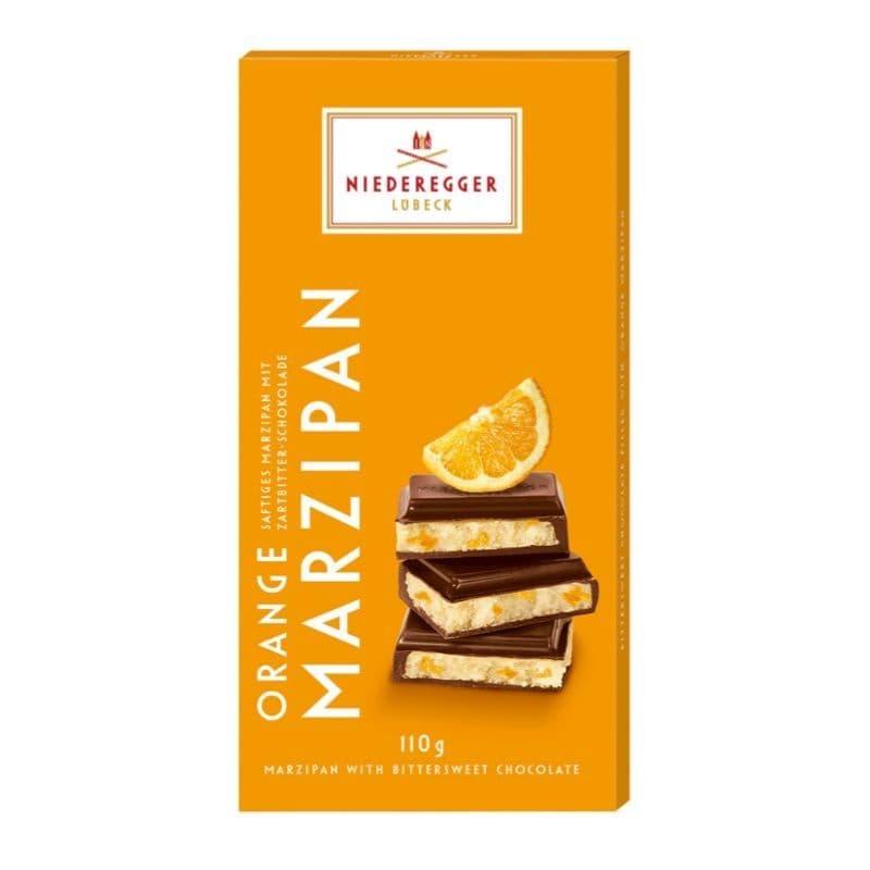 Orange Bittersweet Dark Chocolate Marzipan Niederegger Bar 110g