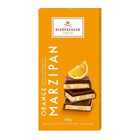 Orange Bittersweet Dark Chocolate Marzipan Niederegger Bar 110g