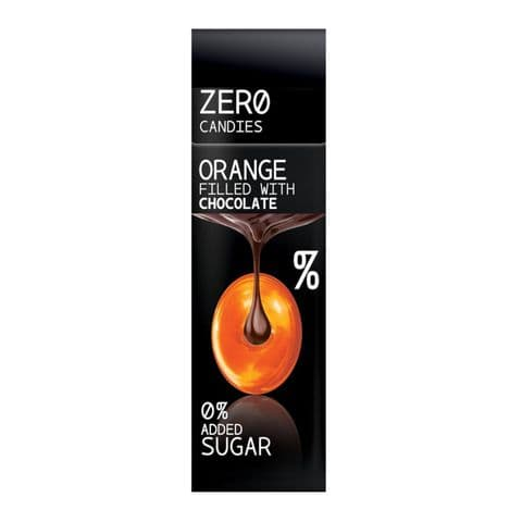 Orange Filled With Chocolate Hard Candy No Added Sugar Free Sweets Zero Candies 36g