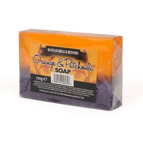 Orange & Patchouli Glycerin Soap Slice - Bath Bubble & Beyond 120g
