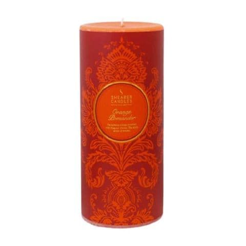 Orange Pomander Scented Pillar Candle - Shearer Candles