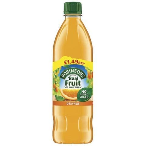 Orange Squash No Added Sugar Robinsons 900ml