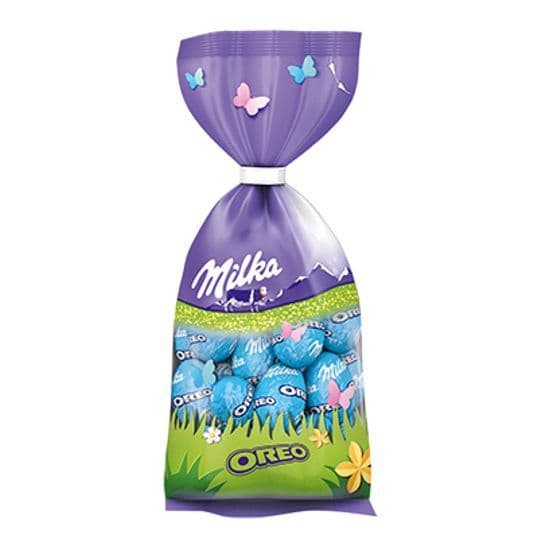 Oreo Milk Melk Lait Chocolate Mini Easter Eggs - Milka Bag 100g