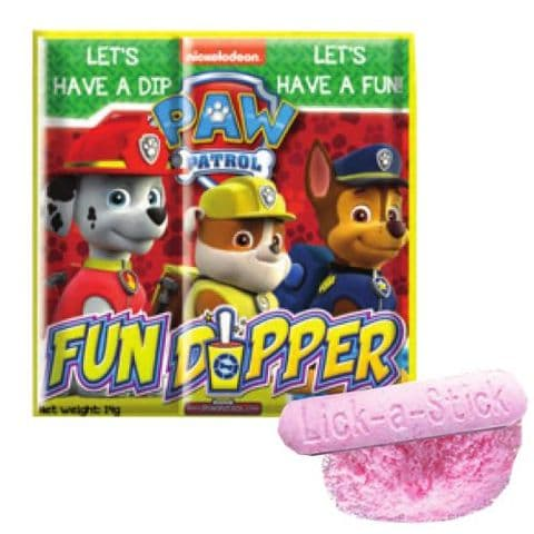 Paw Patrol Fun Dipper Novelty Sherbet Sweets Nickelodeon Licenced Candy 14g
