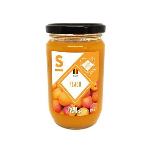 Peach 55% Fruit Spread Diabetic Jam No Added Sugar Free Stevia Sweet Switch 280g