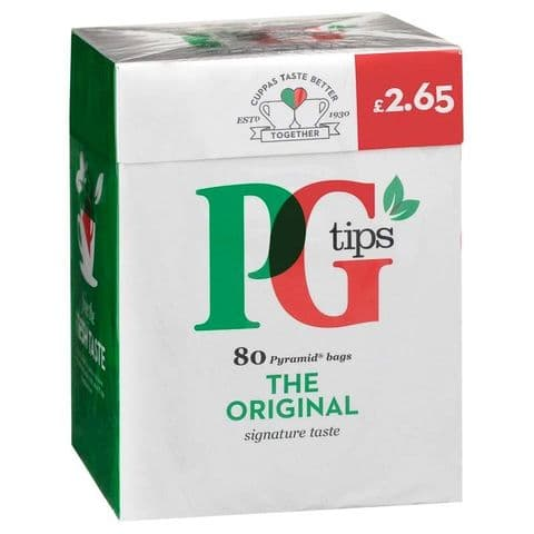 PG Tips Pyramid Tea Bags 232g (Pack of 80)